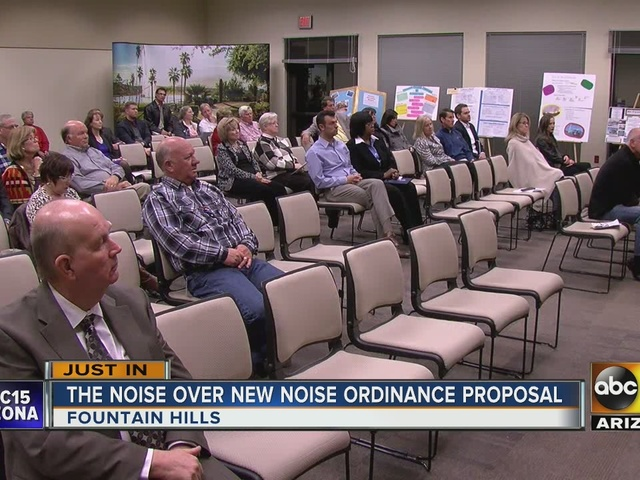 Fountain Hills residents debate over noise ordinance