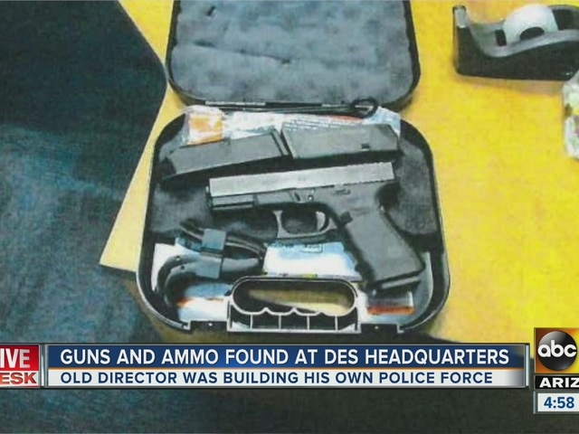 Guns, ammo seized from government building