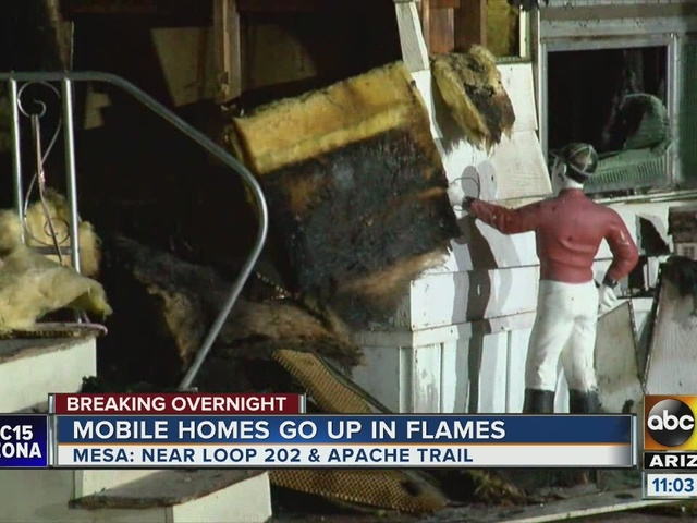 MCSO: Burned East Mesa mobile homes considered suspicious