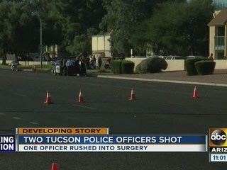 Suspect killed, officers hurt in Tucson shooting