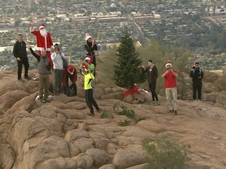 Christmas tree replaced on Camelback Mountain
