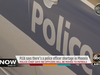 PHX PD chief: 169 officers moving to patrol duty
