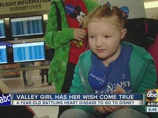 AZ girl w/ heart defect gets trip to Disneyland