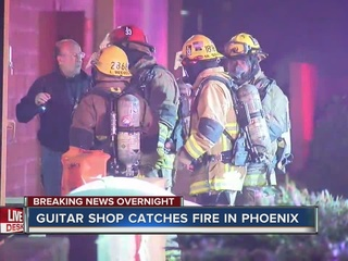 Cause unknown of Guitar Center fire in Phoenix
