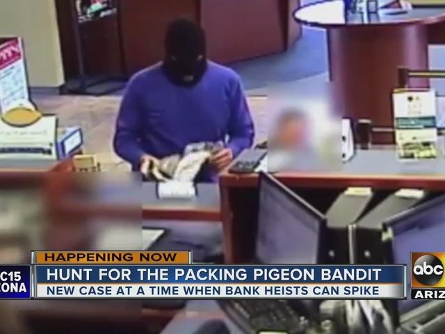 Brazen bank robber on the loose in Phoenix