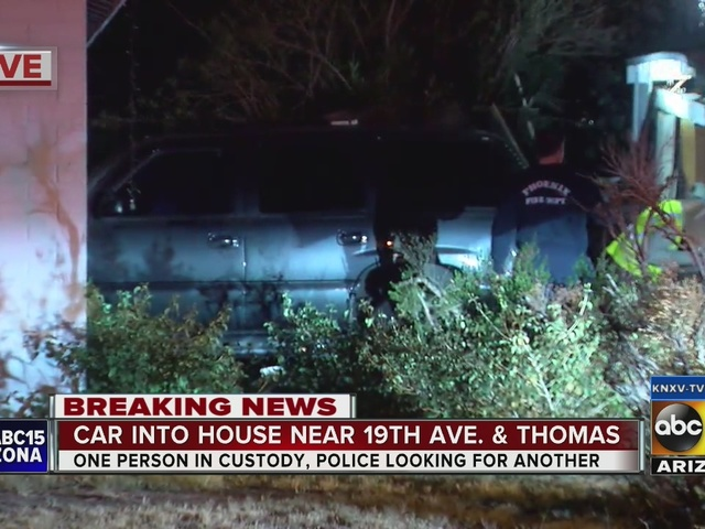 Car collides into home, driver suspected of driving impaired