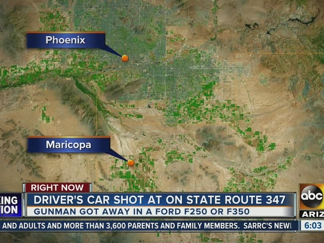 Driver's car shot at on State Route 347