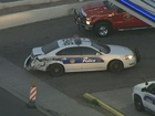 PD: Motorcycle crashes into PHX police cruiser