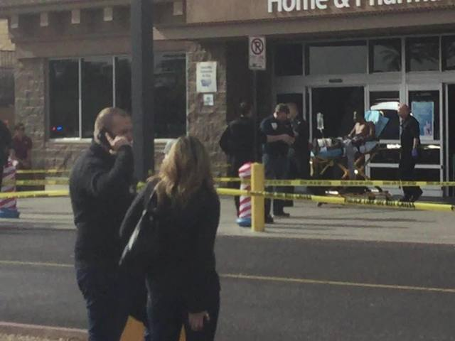 Man taken out in stretcher after shooting at Glendale Walmart
