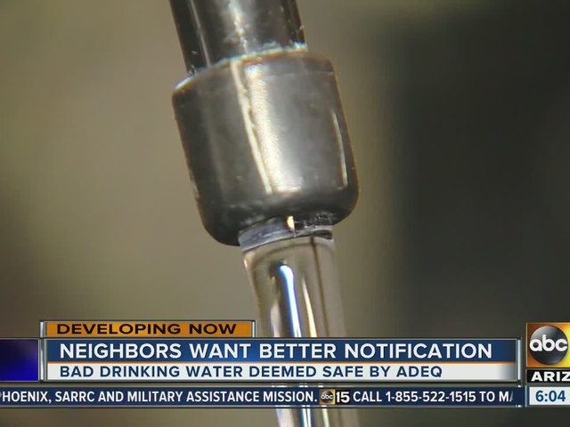 Residents unhappy after water had high levels of nitrate in San Tan Valley