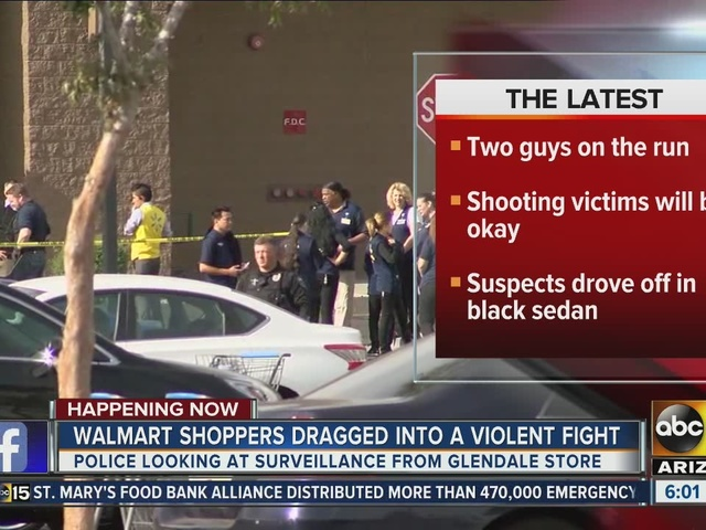 Walmart shoppers dragged into violent fight in Glendale