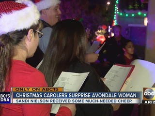 Avondale woman surprised with Christmas carolers