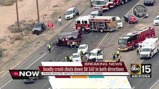Major crash shuts down SR 347 in Chandler