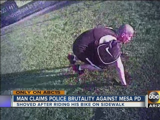 Man claims police brutality against Mesa officer