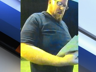 Surprise PD looking for man who damaged ATM