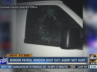 Border Patrol vehicle hit by gunfire in S. AZ