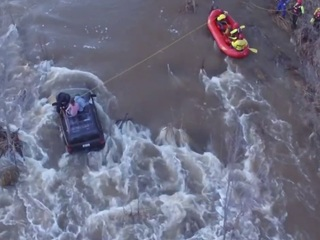 VIDEO: Firefighters rescue 3 from Beaver Creek