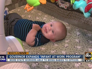 More State employees can bring newborns to work