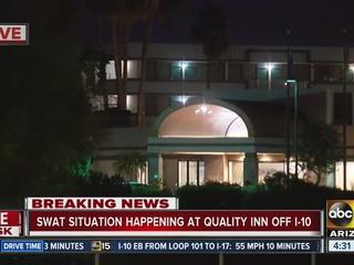 No suspect found after PHX hotel barricade