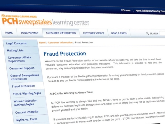 Scammers use real sweepstakes name to dupe 'winners'
