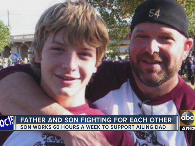 Son supports family after father suffers heartattack