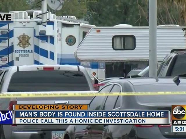 Police investigating homicide at Scottsdale home
