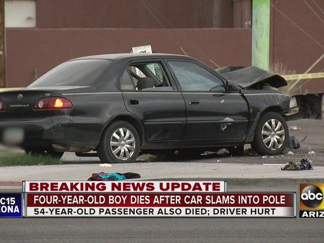 Police release ID of child, man killed in Phoenix car crash