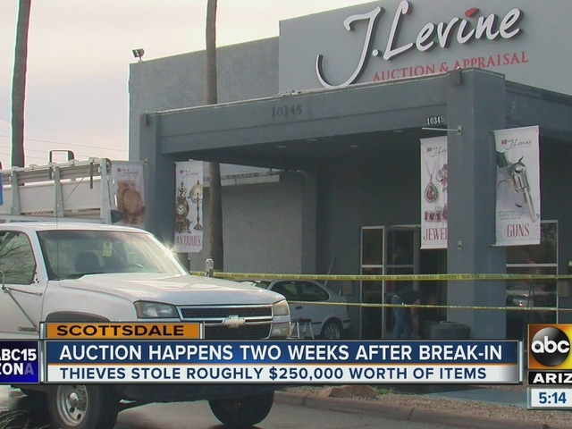 Scottsdale auction house holds auction after New Year's day robbery