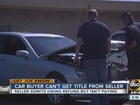 Valley man out $4.9K after car purchase