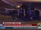Motorcyclist dies in Glendale crash overnight