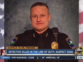 North Texas officer killed, suspect found dead