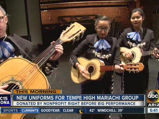 Tempe HS mariachi group gifted uniforms