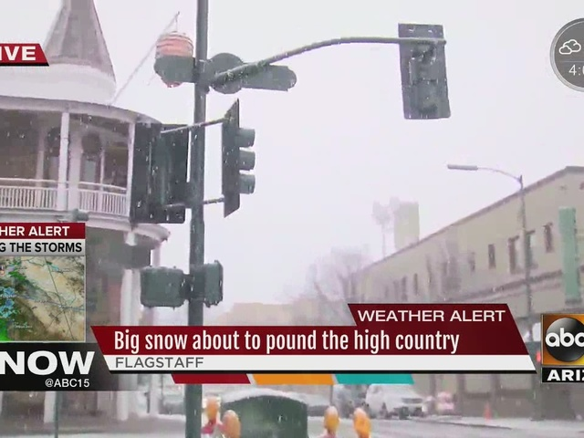 Flagstaff area preparing for snow storm expected to hit the area Thursday night