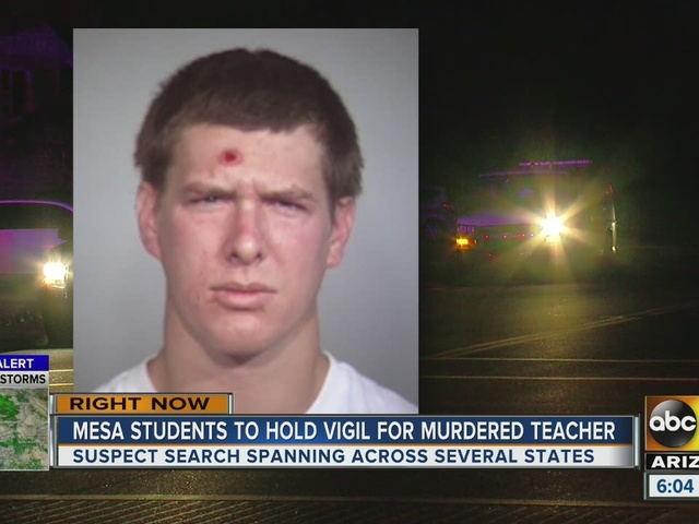 Manhunt continues for suspect in Mesa teacher's death