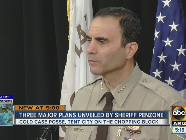 Sheriff Penzone unveils 100 day plan and changes he plans to make