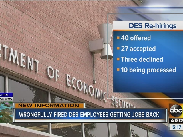 Wrongfully fired DES employees getting jobs back