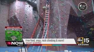 Freebie Friday: Yoga, rock climbing and more