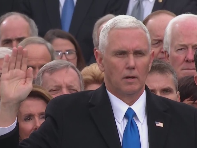 Mike Pence is sworn in as the 45th Vice President of the United States