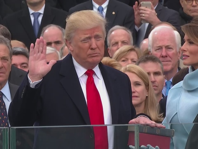 The 45th President of the United States, Donald J. Trump, sworn in