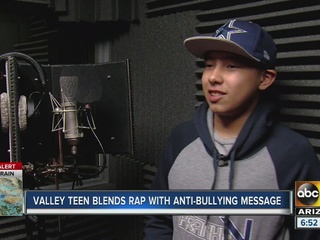 Valley teen blends rap and anti-bullying message