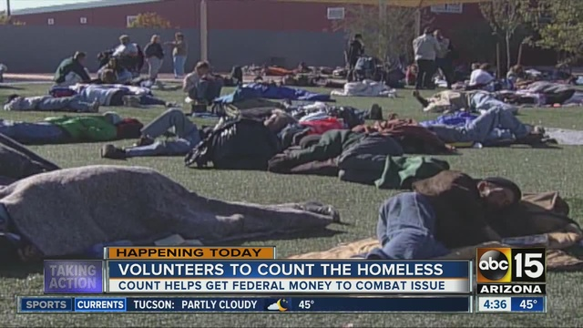 Count underway as city gets 'sanpshot' of local homeless popluation