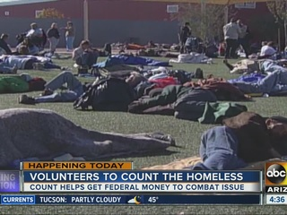 Volunteers conducting annual homelessness count