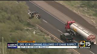 DPS investigating actions of dept's #2 in chase