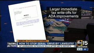 Lawmakers work to curb 'drive-by' lawsuits