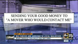 Is that big check in the mail fake?