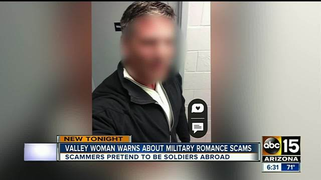 online dating scams involving military How to spot an online dating you can avoid the bulk of online dating scams by establishing a i was talking with a man that claimed to be in the military.