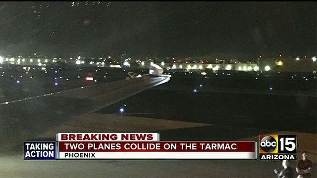 Denver-bound plane collides with another on tarmac in Phoenix