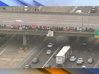 Officials block I-10 ramps during PHX protest