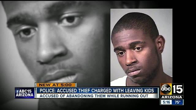 Police- Peoria man left kids behind after robbing Walmart