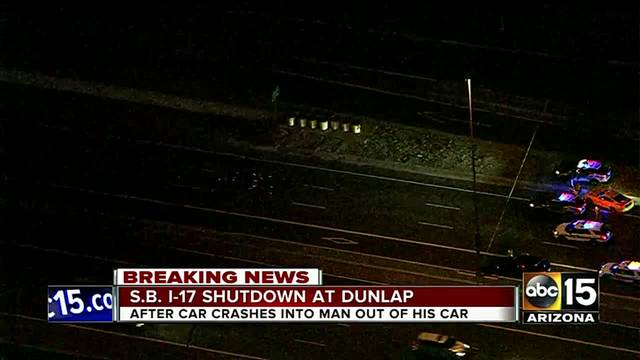 DPS- Pedestrian dies after being hit on I-17 near Dunlap Avenue